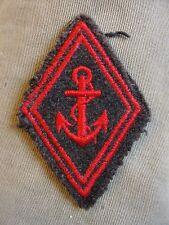 Losange de bras usé des TDM Troupes de Marine insigne modèle 1945 écusson