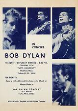 BOB DYLAN - Tufts University 1964 - Vintage Concert Music Poster