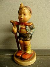 Rare Goebel Hummel Germany Figurine Boy With Cane & Slippers - Skier #75 2/0