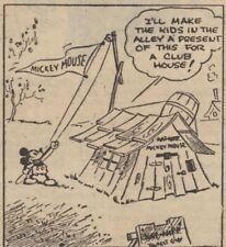 Mickey Mouse Daily Strip - Feb 21, 1931 - VERY RARE Early Floyd Gottfredson art
