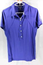 Oakley Polo Golf Shirt Short Sleeve Blue Medium Tpc Sawgrass Logo