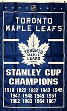 Toronto Maple Leafs NHL Stanley Cup Championship Hockey Flag 3x5 ft Banner Blue