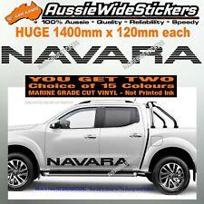 NAVARA D40 D22 NP300 4x4 turbo diesel door panel Stickers PAIR HUGE 1400mm
