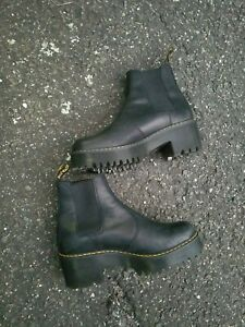 Dr.Martens Rometty Leather Mid-heel Chelsea Ankle Womens Boots