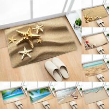 Non-slip Beach Sand Flannel Doormat Kitchen Bedroom Bath Floor Mat Rug Carpet