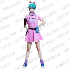 Nekocos Dragon Ball Z Bulma Cosplay Costume Dress Outfit Anime Apparel