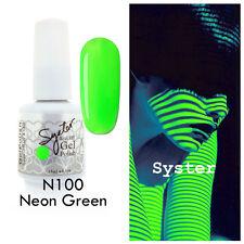 SYSTER 15ml Nail Art Soak Off Color UV Gel Polish UV Lamp N100 - Neon Green