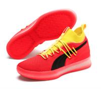 Puma CLYDE COURT Disrupt Red Blast Yellow Black Orange Basketball Men 191715 02