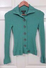 BANANA REPUBLIC Women Cardigan Merino Wool Light Green XS