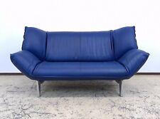 Leolux Tango blau, Ledersofa, Designersofa, Couch