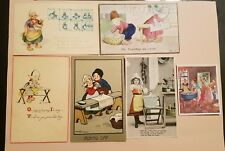 IRONING DAY postcards lot