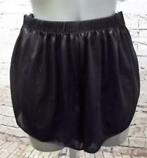 ORIGINAL VINTAGE BLACK NYLON BLOOMER PANTS FRENCH KNICKERS SEXY SILKY SPLITS