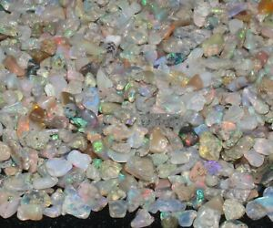 4to5.5MM NATURAL GEMSTONE ETHIOPIAN WELO OPAL POLISHED CHIPS ROUGH LOTS  #111