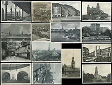 GERMANY HAMBURG VINTAGE Pre 1960 REAL PHOTO PPCs with AERIAL VIEWS...15 CARDS