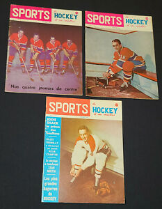 1962-1964 - SPORTS - NHL - HOCKEY MAGAZINES (3) - MONTREAL CANADIENS COVERS