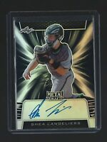 SHEA LANGELIERS  2019 Leaf Metal Draft  BLACK AUTOGRAPH RC  13/15  Braves