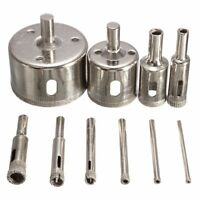 10Pcs Diamond Hole Saw 3-50mm Drill Bit Saw Set Tile Ceramic Marble Glass C K8W2