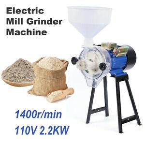 Wet Peanut Butter Machine Maker 2200W Grain Mill Grinder Grinding Feed Crusher