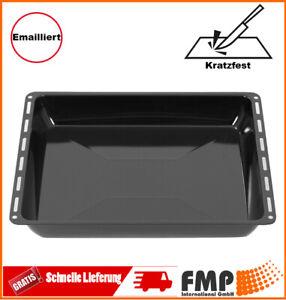 ICQN Universal Backblech Kuchenblech Tief Fettpfanne Emailliert 455x377x60mm Neu