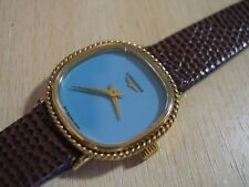 BEAUTIFUL NOS 70'S LONGINES MANUAL TURQUOISE DIAL GP LADIES WATCH          *6345
