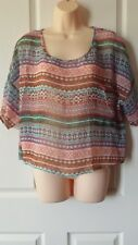 Jay Jays Size XL Geometric Multicolour  Sheer Top BNWT