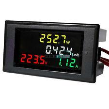 Digital AC 80-300V LCD Voltmeter Ammeter Volt Amp Power Kwh Panel Meter 100A