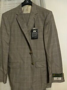 NWT JOSEPH ABBOUD SUIT LORO PIANA 150S USA MADE LUXURY SUIT 44S 38W MODERN FIT