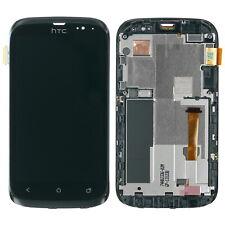 Original HTC Desire X Display Touchscreen LCD Rahmen Glas Digitizer schwarz