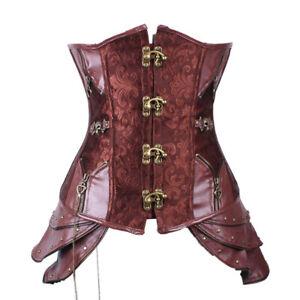 Women's Gothic Retro  Girdle Waistcoat Victorian Steampunk Steel Bone  Corset Se