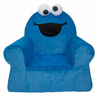 Marshmallow Furniture Deluxe Comfortable Foam Toddler Kids Chair, Cookie Monster