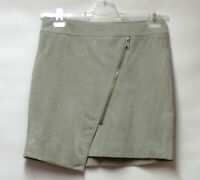 NEW RINO & PELLE QVC LEATHER SUEDE ASYMMETRIC SKIRT QUIRKY ZIP UK 10 RRP £79