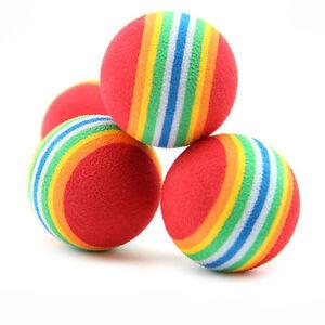 10/20pcs Pet Cats Rainbow Play Bouncy Balls Soft Foam Kitten Activity Chase Toys