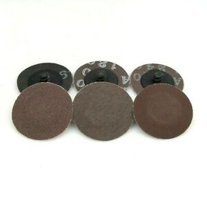 100 Pcs 2in A/O Roloc Sanding Disc Automobile Refinish Deburring Finishing Tools