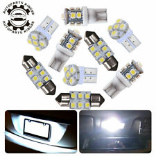 8x White LED Bulb Interior Package Kit T10 & 30mm 31mm Festoon Dome Map Lights