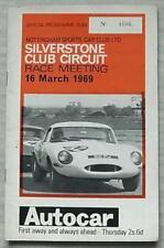 SILVERSTONE 16 Mar 1969 NOTTINGHAM SPORTS CAR CLUB RACE MEETING Programme