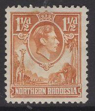 NORTHERN RHODESIA SG30 1941 1½d YELLOW-BROWN MTD MINT
