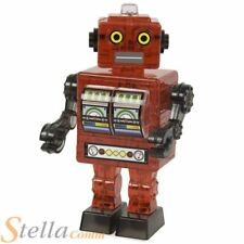 3D Red Tin Robot Crystal Puzzle 39 Piece Model Toy
