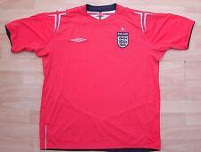 England 2004-2006 AWAY UMBRO calcio in maglia Top XL adulto