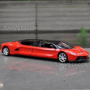 1:32 Diecast Car Model Toy Ferrari Stretch Limousine Pull Back Replica With S&L