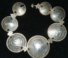 WW2 Trench art coin bracelet