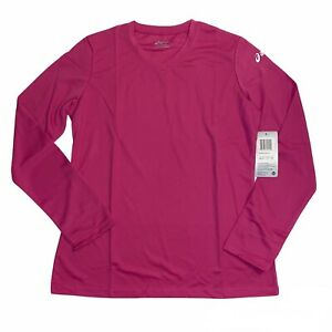 Asics Ready Set V-Neck Long Sleeve Tee, Women's Size Medium NWT WR1233-17