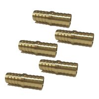 """(5 Pack) 3/4"""" Hose Barb Mendor Union Splicer Brass Pipe Fitting Gas Fuel Air"""