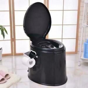 NEW 5L PORTABLE TOILET COMPACT POTTY LOO CAMPING CARAVAN PICNIC FESTIVALS Black