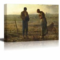 """wall26 - The Angelus by Jean- Francois Millet - Canvas Print Wall Art- 16"""" x 24"""""""