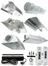 iPower 1000W HPS MH Grow Light System Kit Cool Tube Hood Wing Reflector Set