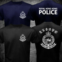 New Rare ROYAL HONG KONG POLICE before handover Black Navy T-shirt