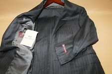#13 Hickey Freeman Beacon Super 150's Gray Striped Two Button Suit Size 38 R