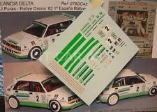 """DECAL CALCA 1/43 LANCIA DELTA """"CAJA CANTABRIA"""" J. PURAS - RALLY OSONA 1992"""