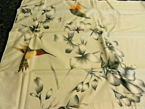 new Standard size Pillow SHAM Hummingbird Harlequin cotton AMAZILIA flowers