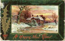 Usa, Christmas Postcard From Brooklyn Ny To Marburg, Hessen, Germany Year 1909